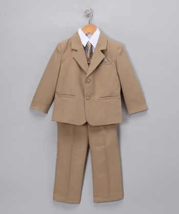 Khaki Five-Piece Suit - Infant & Boys