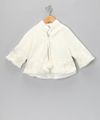 Ivory Embroidery Coat - Infant, Toddler & Girls