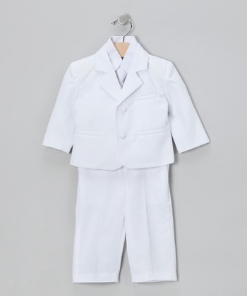White Suit Set - Infant, Toddler & Boys