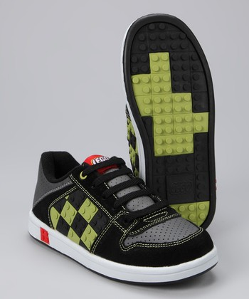 Black & Lime Concrete Sneaker