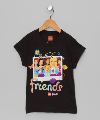 Black 'Friends' LEGO Friends Tee - Girls