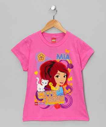 Pink 'Mia' LEGO Friends Tee - Girls