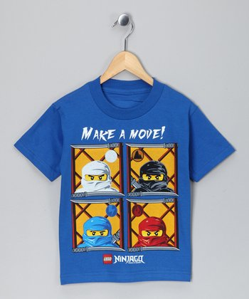 LEGO Blue Ninjago 'Mave a Move' Tee - Boys