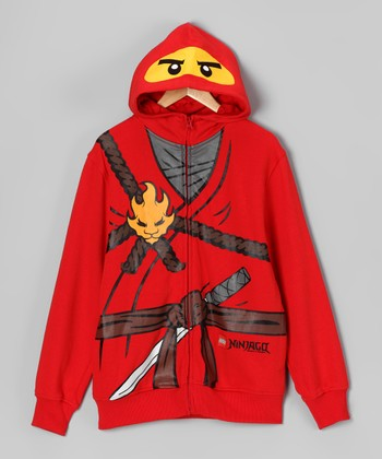LEGO Red Ninjago Zip-Up Hoodie - Boys