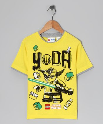 Yellow LEGO Star Wars 'Yoda' Tee - Kids