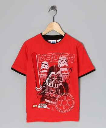 Red LEGO Star Wars Darth Vader Tee - Kids