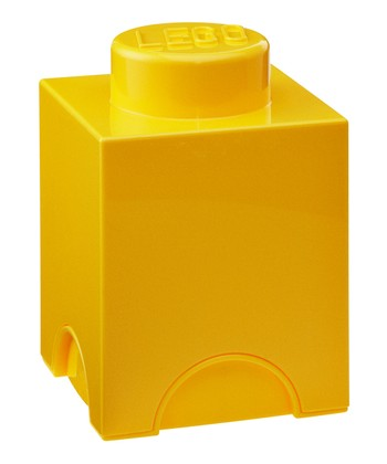 Yellow LEGO 1 x 1 Storage Brick