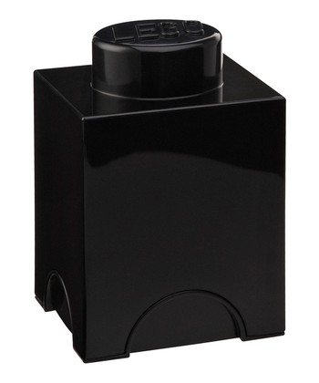 Black LEGO 1 x 1 Storage Brick