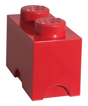 Red LEGO 1 x 2 Storage Brick