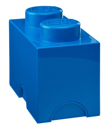 Blue LEGO 1 x 2 Storage Brick