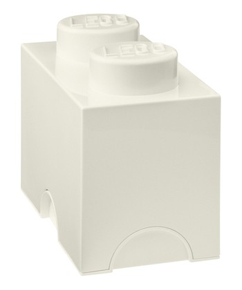 White LEGO 1 x 2 Storage Brick