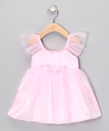 Pink Angel-Sleeve Dress - Infant