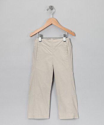 Ecru Grey Toby Cropped Trouser Pants -  Infant, Toddler & Kids