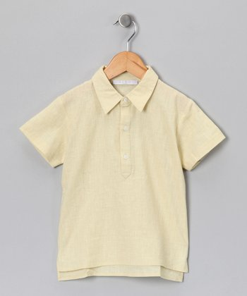 Pale Yellow Chris Polo - Toddler & Boys