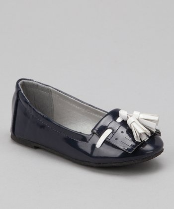 LILLY of NEW YORK Navy Tassel Loafer Flat