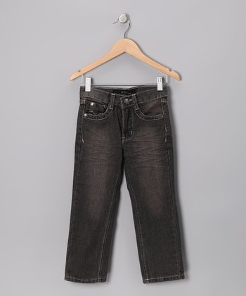 Dark Gray Todd's Fashion Jeans - Toddler & Boys
