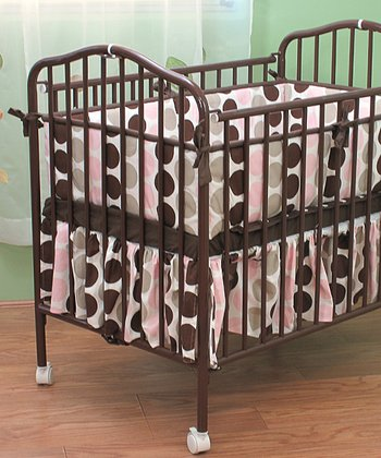 Chocolate Metal Folding Crib