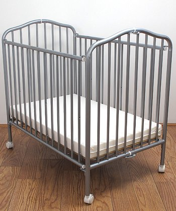 Pewter Metal Folding Crib