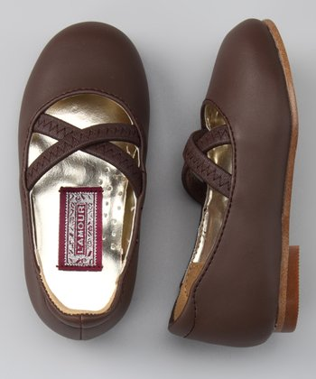 Brown Crisscross Flat
