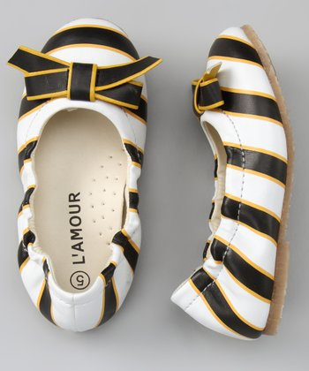 Black & Yellow Bow Flat
