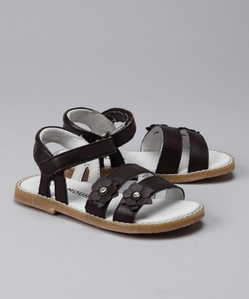 Brown Flower Strappy Sandal