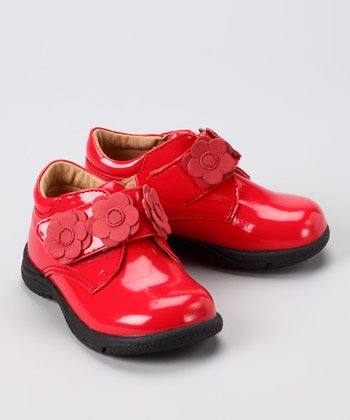 Red Patent Flower Shoe