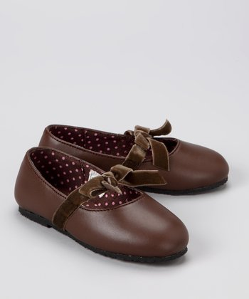 Brown Bow Ballet Flat