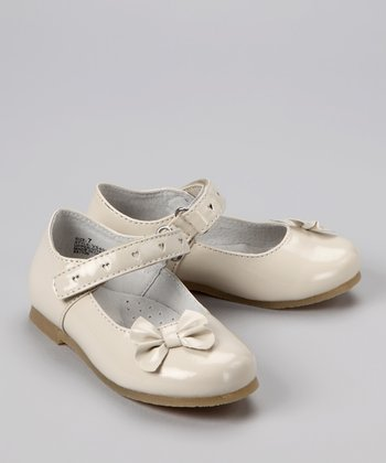 Patent Cream Bow Mary Jane