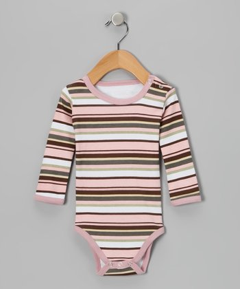 Warm Stripe Hype Long-Sleeve Bodysuit