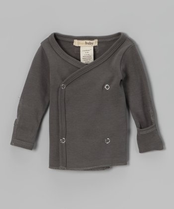 Clay Gray Wrap Top - Infant