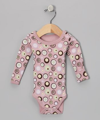 Warm Lots-a-Dots Gl'oved-Sleeve Bodysuit - Infant