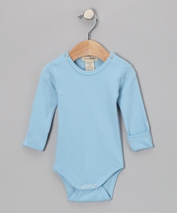 True Blue Gl'oved-Sleeve Bodysuit