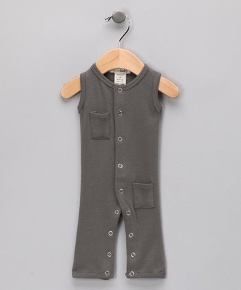 Clay Gray Sleeveless Playsuit - Infant