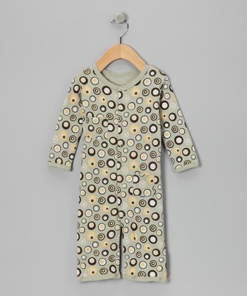 Neutral Lots-a-Dots Playsuit