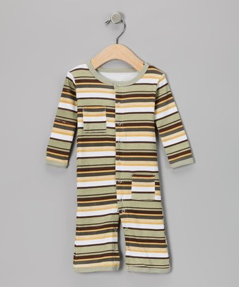 Neutral Stripe Hype Playsuit