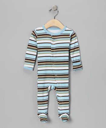 Cool Stripe Hype Gl'oved-Sleeve Footie - Infant