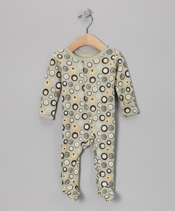 Neutral Lots-a-Dots Gl'oved-Sleeve Footie - Infant