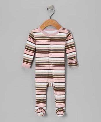 Warm Stripe Hype Gl'oved-Sleeve Footie - Infant