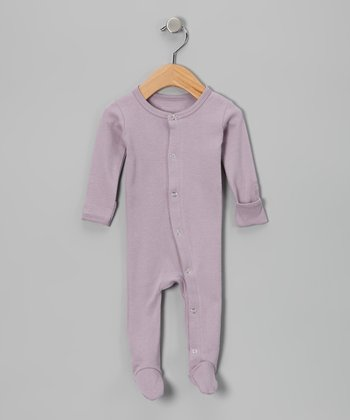 It's-So-Her Lavender Gl'oved-Sleeve Footie - Infant