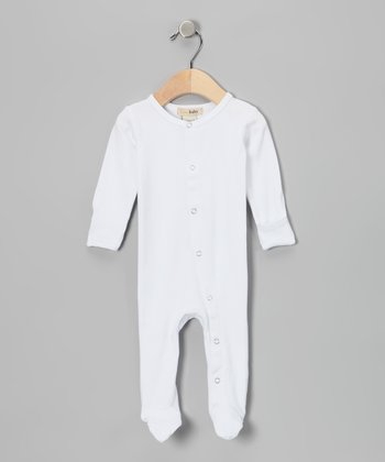Bright White Gl'oved-Sleeve Footie - Infant