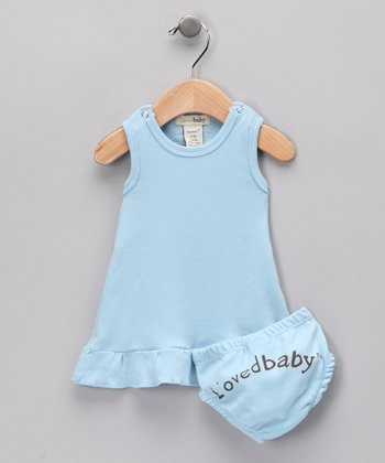 True Blue Mod Dress & Diaper Cover - Infant