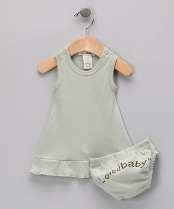 Keen Green Mod Dress & Diaper Cover - Infant