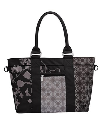 Black Casual City Shopper Diaper Bag