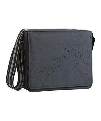 Birds Black Casual Messenger Diaper Bag
