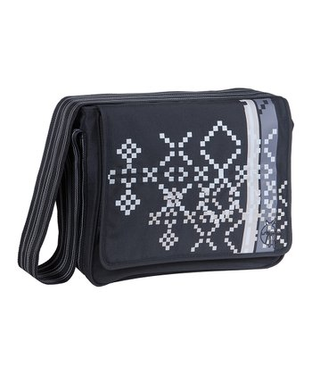 Indie Black Casual Messenger Diaper Bag