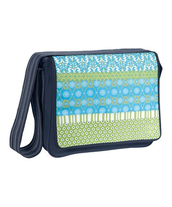 Blue Mist Casual Messenger Diaper Bag