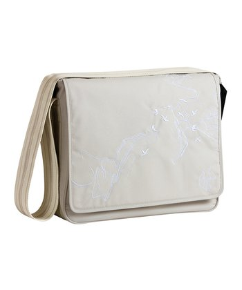 Birds Beige Casual Messenger Diaper Bag