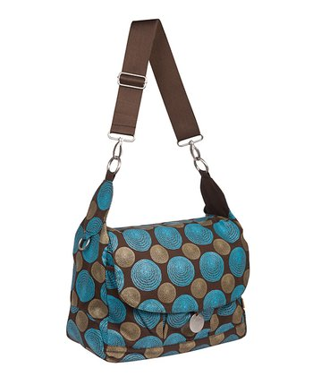 Lässig Chocolate Gold Label Reversible Messenger Diaper Bag