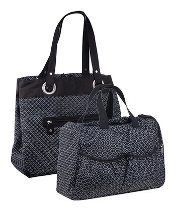 Black Gold Label Reversible Tote Diaper Bag