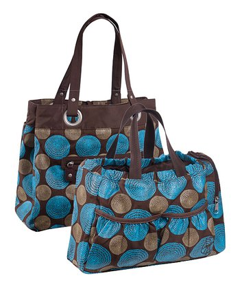 Chocolate Gold Label Reversible Tote Diaper Bag